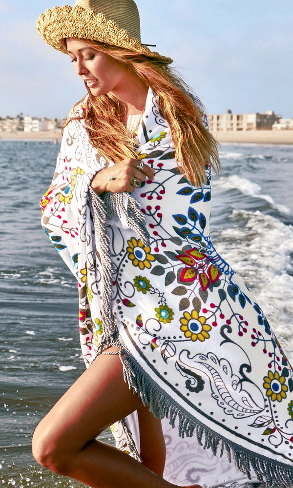 Blanket Towel Beach Cover up Wrap