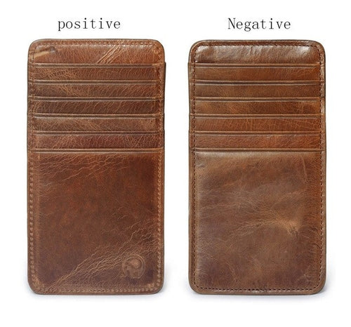 Minimal Leather Travel Wallet