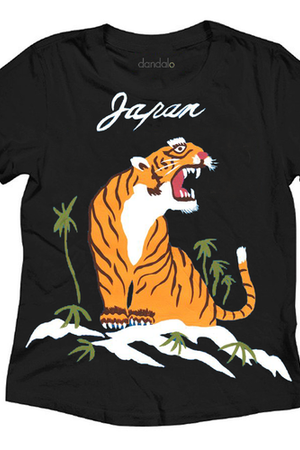 Unisex Japanese Tiger Graphic Tee