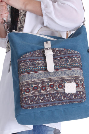 Two Way Canvas Cross Body Backpack