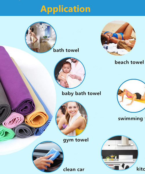 Quick-Dry Microfiber Travel Towel