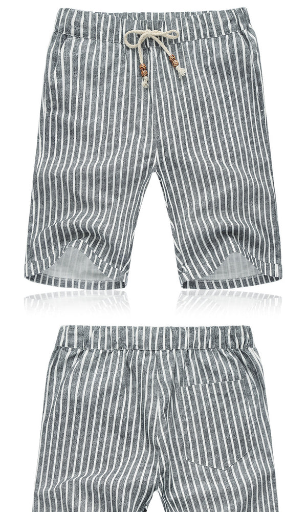 Slim Linen Summer Shorts