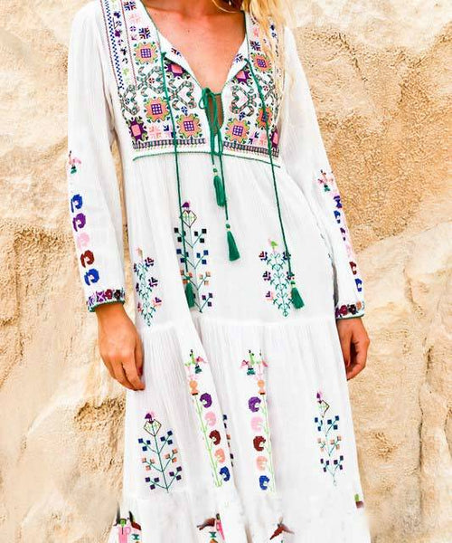 Flower Power Bohemian Hippie Dress