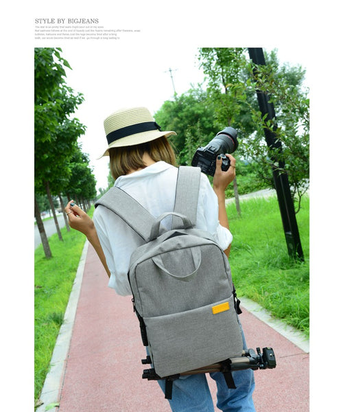 Waterproof DSLR Camera Backpack with Tripod Holder