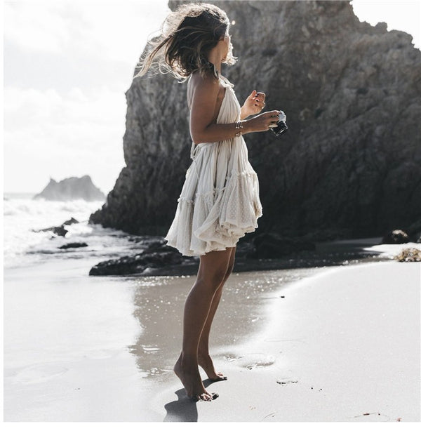 Stylish trendy short beach dress
