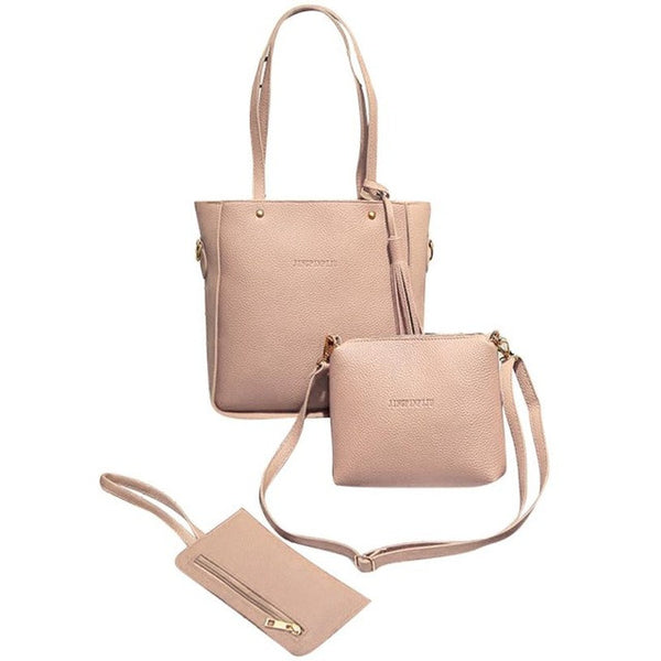3 Piece Vegan Women's Purse Set