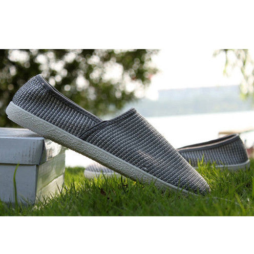 Men's shoes hemp loafers breathable flats