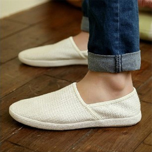 Men's shoes leisure loafers White