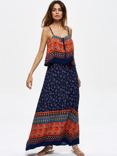 Ensenada Double-Layered Women's Maxi Dress