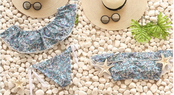 Flirty Off the Shoulder Bikini Set