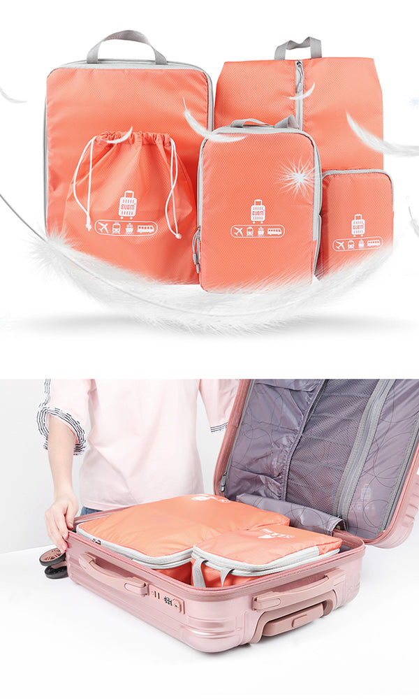 Waterproof 5 Piece Utility Packing Cubes Set