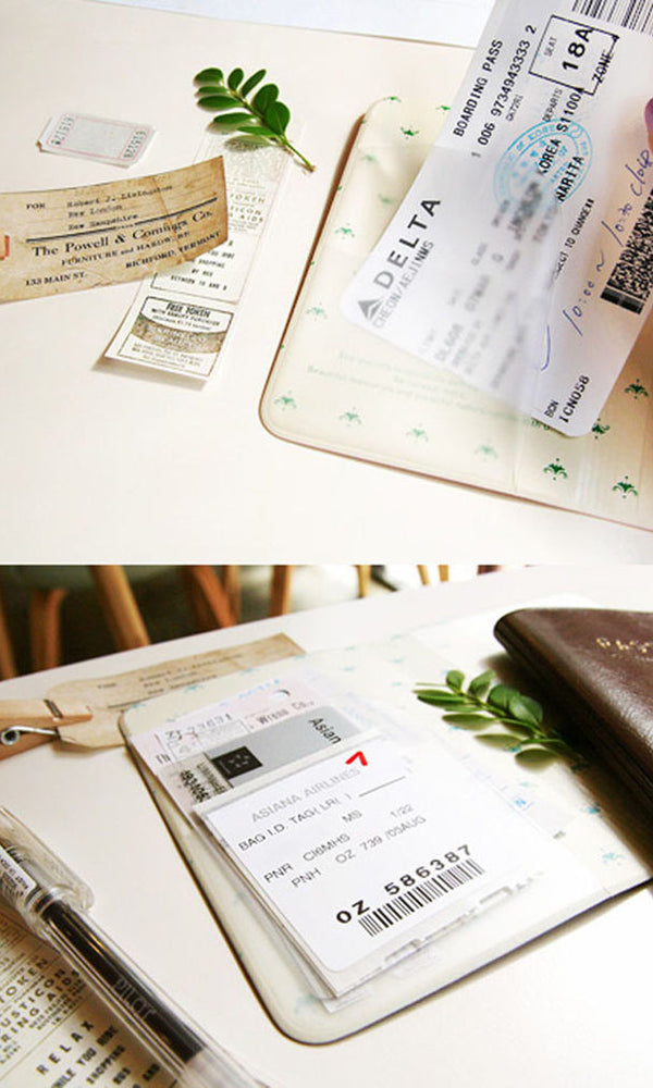 Decorative Passport Cover with plane tickets