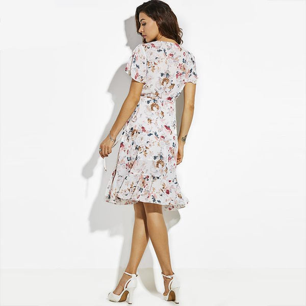 Floral Wrap Summer Beach Travel Dress