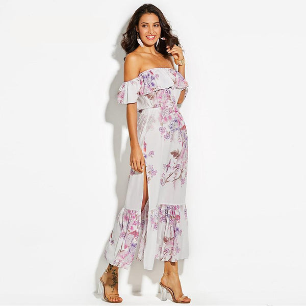Sexy Flirty Summer Beach Date Dress Maxi
