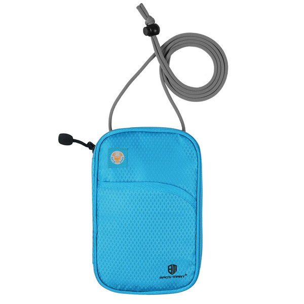 Anti-theft document holder security pouch