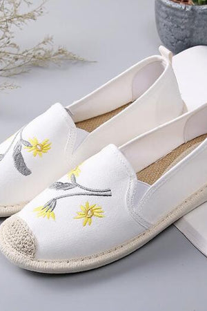 Playful embroidered Canvas Slip Ons