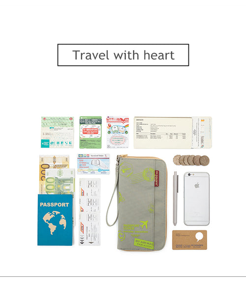 travel wallet pouch money bag passport holder