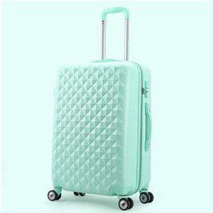 Teal Fashionable Rolling Carry On Hard Case Luggage with Spinner Wheels