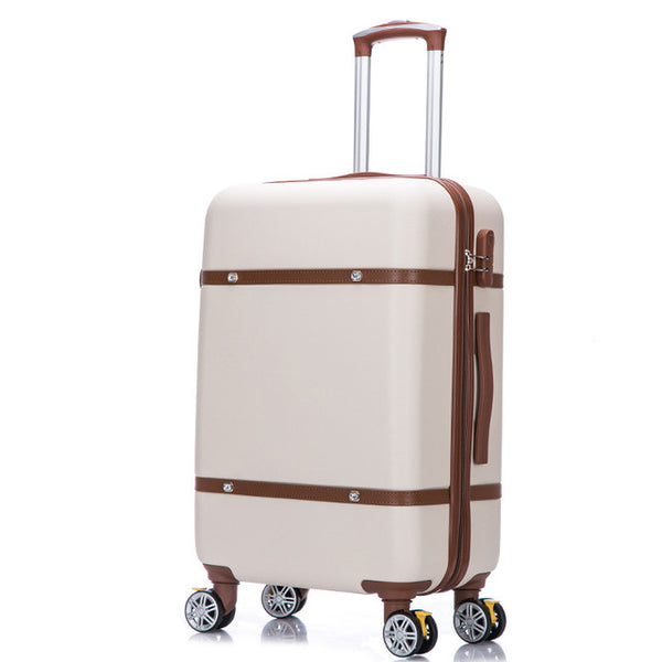 "Beige rolling 20"" 22"" 24"" 26"" hard shell security luggage"