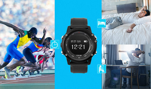 Bluetooth smartwatch fitness and heart rate tracker