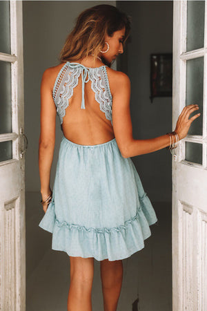 Miami Mini Dress with Lace Details