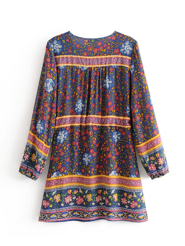 Jade Floral Tunic Dress with Pockets