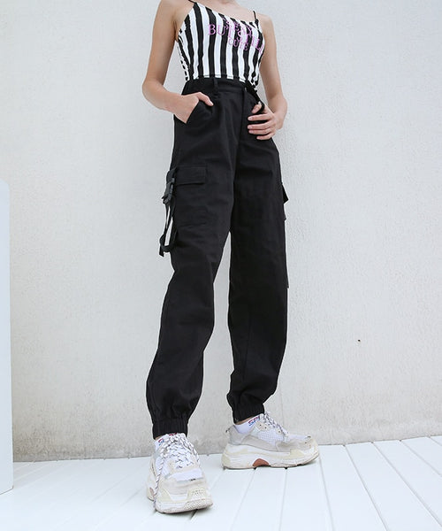 Sporty High Waist Women's Cargo Pants