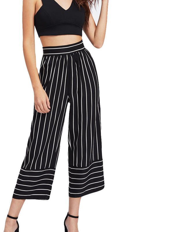 Antigua Striped High Waist Culottes