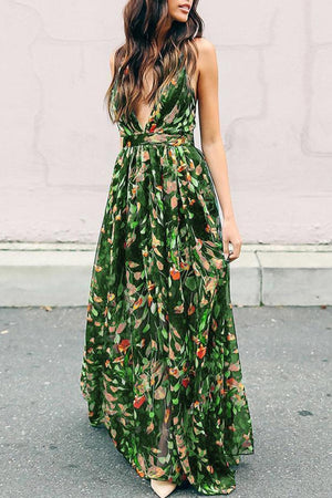 Grecian Empire Waist Maxi Dress