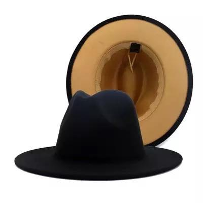 Black and tan fedora