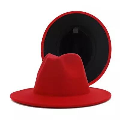 Red fedora w/black