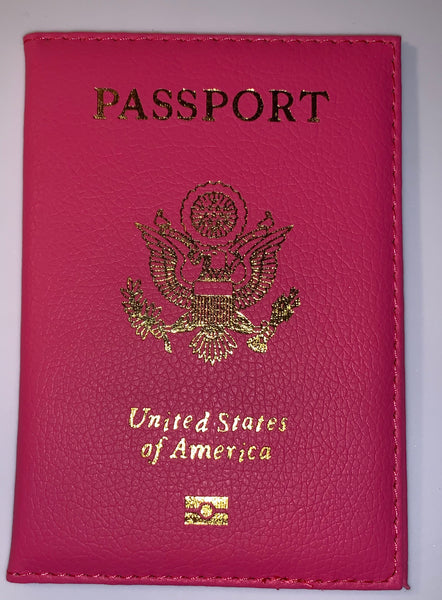 Hot Pink Glam Passport Cover