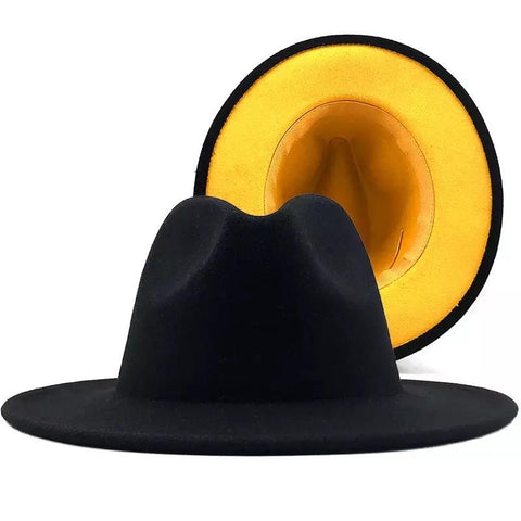 Black and yellow fedora