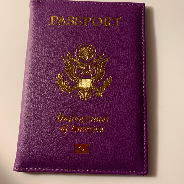 Purple Glam Passport Cover