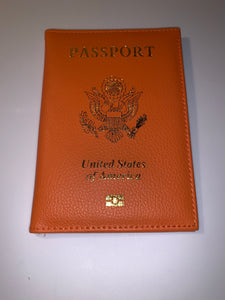 Orange Passport Cover