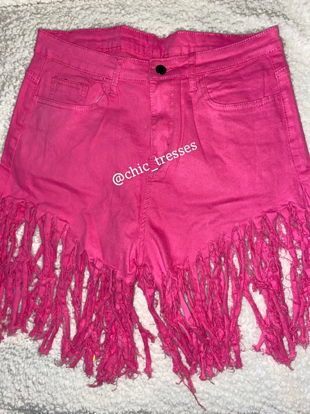 Fringy Girl- Hot Pink