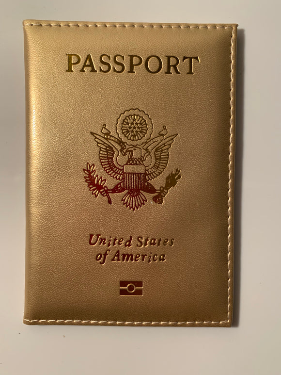 Metallic Gold Glam Passport Cover