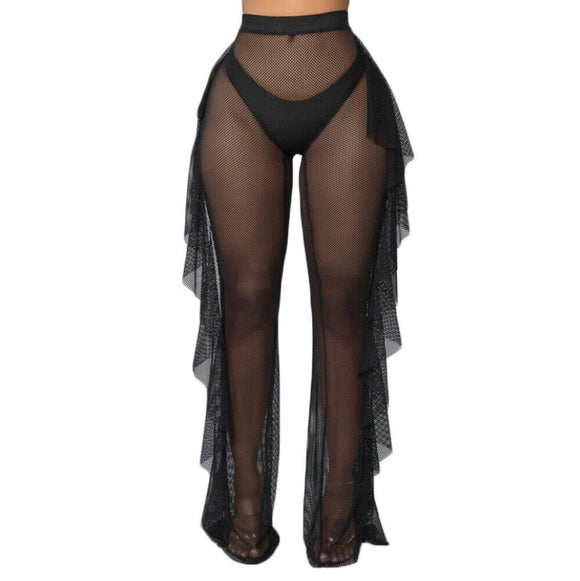 Swimsuit Cover Up Pants (Black)