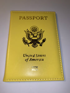 Yellow Passport Cover