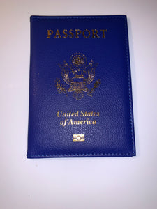 Royal Blue Passport Cover
