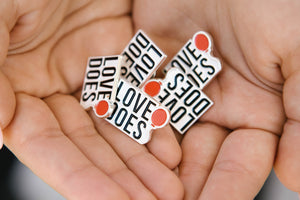 Love Does Enamel Pin