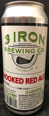 3 Iron Brewing Hooked Red Ale 16 oz