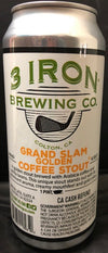 3 Iron Brewing Grand Slam Golden Coffee Stout 16 oz