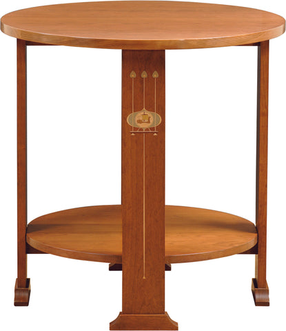 Harvey Ellis Round Lamp Table Side Table Stickley - Jordans Interiors