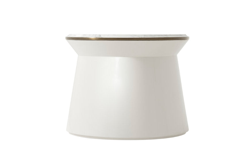 Contour Side Table Large - Pure Pearl Side Table Steve Leung by TA - Jordans Interiors