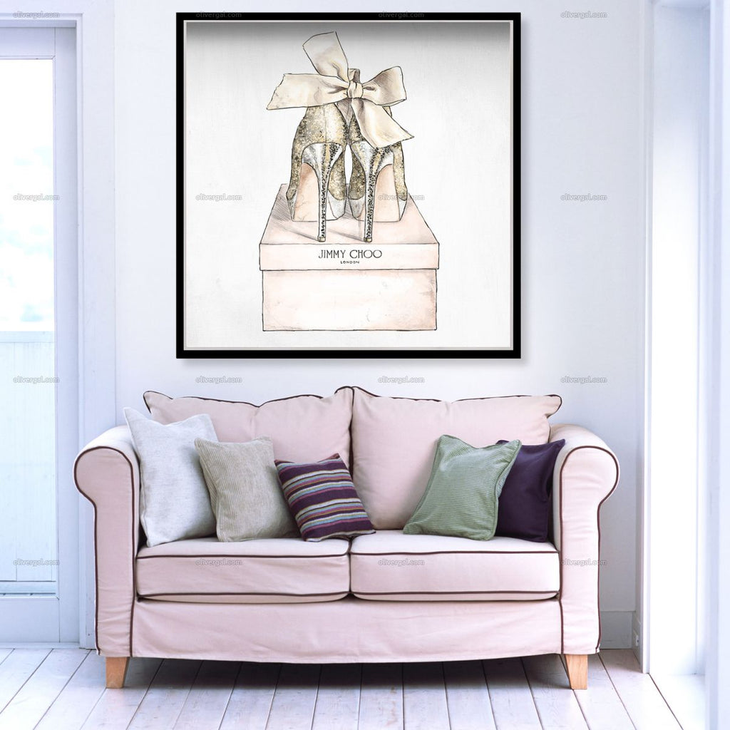 Romantic Pair Square Artwork Oliver Gal - Jordans Interiors