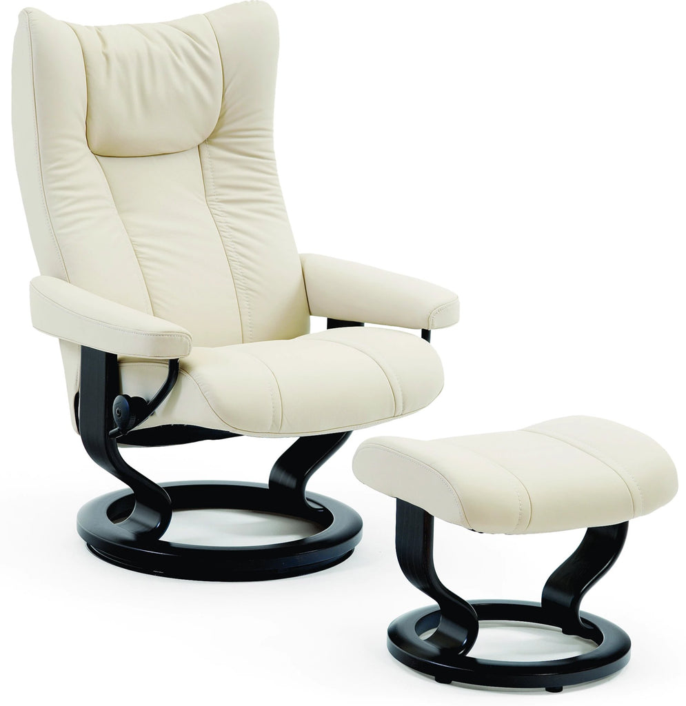 Stressless® Wing Recliner Chair - Classic Office Chair Stressless - Jordans Interiors