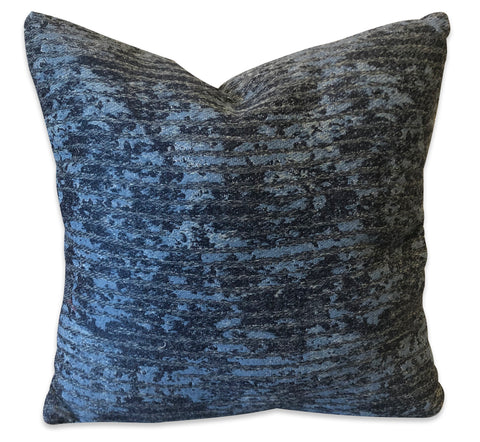 Blue Textured - Patio Pillow Patio Pillow Jordans Interiors - Jordans Interiors