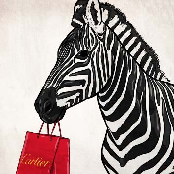 Expensive Zebra Artwork Oliver Gal - Jordans Interiors