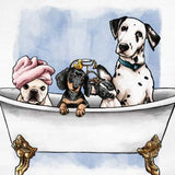 Pets In The Tub Framed Art Oliver Gal - Jordans Interiors